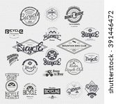 bicycle badge insignia for any... | Shutterstock .eps vector #391446472