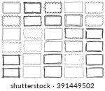 frames doodle vector. set of 30 ... | Shutterstock .eps vector #391449502