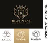 hotel logo boutique logo crest... | Shutterstock .eps vector #391451806
