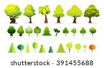 tree icon vector set collection | Shutterstock .eps vector #391455688