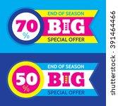 big sale vector horizontal... | Shutterstock .eps vector #391464466