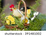 Small photo of Decorated Christmas Basket With Fruit, Gift, alleluia eve