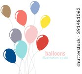 background with colorful... | Shutterstock .eps vector #391481062