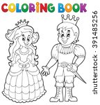 coloring book princess and... | Shutterstock .eps vector #391485256