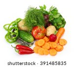 fresh vegetables | Shutterstock . vector #391485835