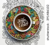 vector illustration with a cup... | Shutterstock .eps vector #391486102
