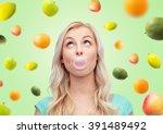 summer  healthy eating ... | Shutterstock . vector #391489492