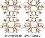 decorative frame of stylized...   Shutterstock .eps vector #391498582