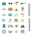 set of 24 traveling icons | Shutterstock .eps vector #391500352