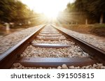 Train Rail Sunset