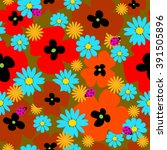 flower seamless template with a ...   Shutterstock .eps vector #391505896