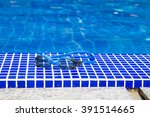 goggles close up and swimming... | Shutterstock . vector #391514665