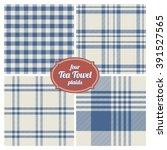 seamless french tea towel... | Shutterstock .eps vector #391527565