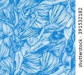 vector seamless wave hand drawn ... | Shutterstock .eps vector #391532182
