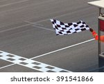 finish line and checkered race... | Shutterstock . vector #391541866
