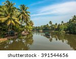 backwaters of kerala  india | Shutterstock . vector #391544656