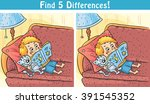 find differences game with a... | Shutterstock .eps vector #391545352