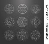 sacred geometry signs. set of... | Shutterstock .eps vector #391552696