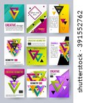 set of triangle cards. vector...