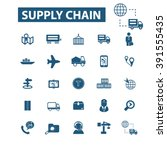 supply chain icons  | Shutterstock .eps vector #391555435