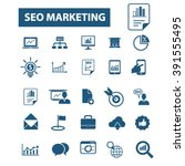 seo marketing icons  | Shutterstock .eps vector #391555495