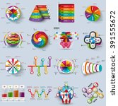 collection of 3d infographic... | Shutterstock .eps vector #391555672