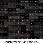 huge mega collection of... | Shutterstock .eps vector #391556992