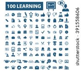 learning icons  | Shutterstock .eps vector #391558606