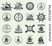 set of vintage nautical labels  ...   Shutterstock .eps vector #391568746