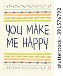 "card ""you make me happy"" 