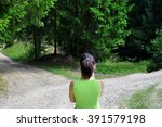 girl with a choice near the... | Shutterstock . vector #391579198