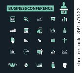 business conference icons  | Shutterstock .eps vector #391579522