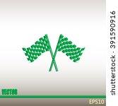 racing flag icon   Shutterstock .eps vector #391590916