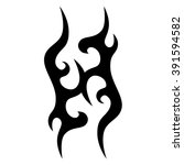 tattoo tribal vector design.... | Shutterstock .eps vector #391594582