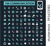 communication icons  | Shutterstock .eps vector #391623382