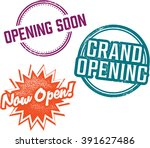 business grand opening vintage... | Shutterstock .eps vector #391627486