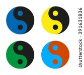 Yin Yang  Multicolored Set Ico...