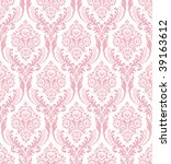 Seamless Pink Damask
