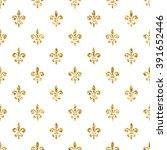 Golden Fleur De Lis Seamless...