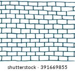 Template Doodle Brick Wall...