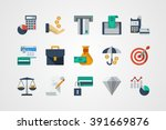 business and finance icons | Shutterstock .eps vector #391669876