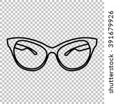 stylish sunglasses line vector... | Shutterstock .eps vector #391679926