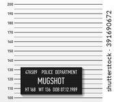 police mugshot. add a photo.... | Shutterstock .eps vector #391690672