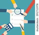 memorandum of understanding mou   Shutterstock .eps vector #391711978