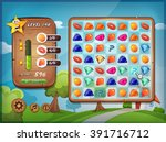 game user interface for tablet... | Shutterstock .eps vector #391716712