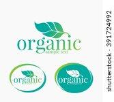 organic farming logo design | Shutterstock .eps vector #391724992