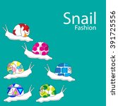 snail fashion background vector | Shutterstock .eps vector #391725556