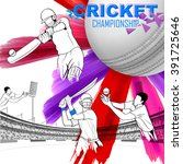 illustration of batsman playing ... | Shutterstock .eps vector #391725646