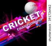 illustration of cricket ball... | Shutterstock .eps vector #391726462