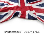 Union jack flag on plain...